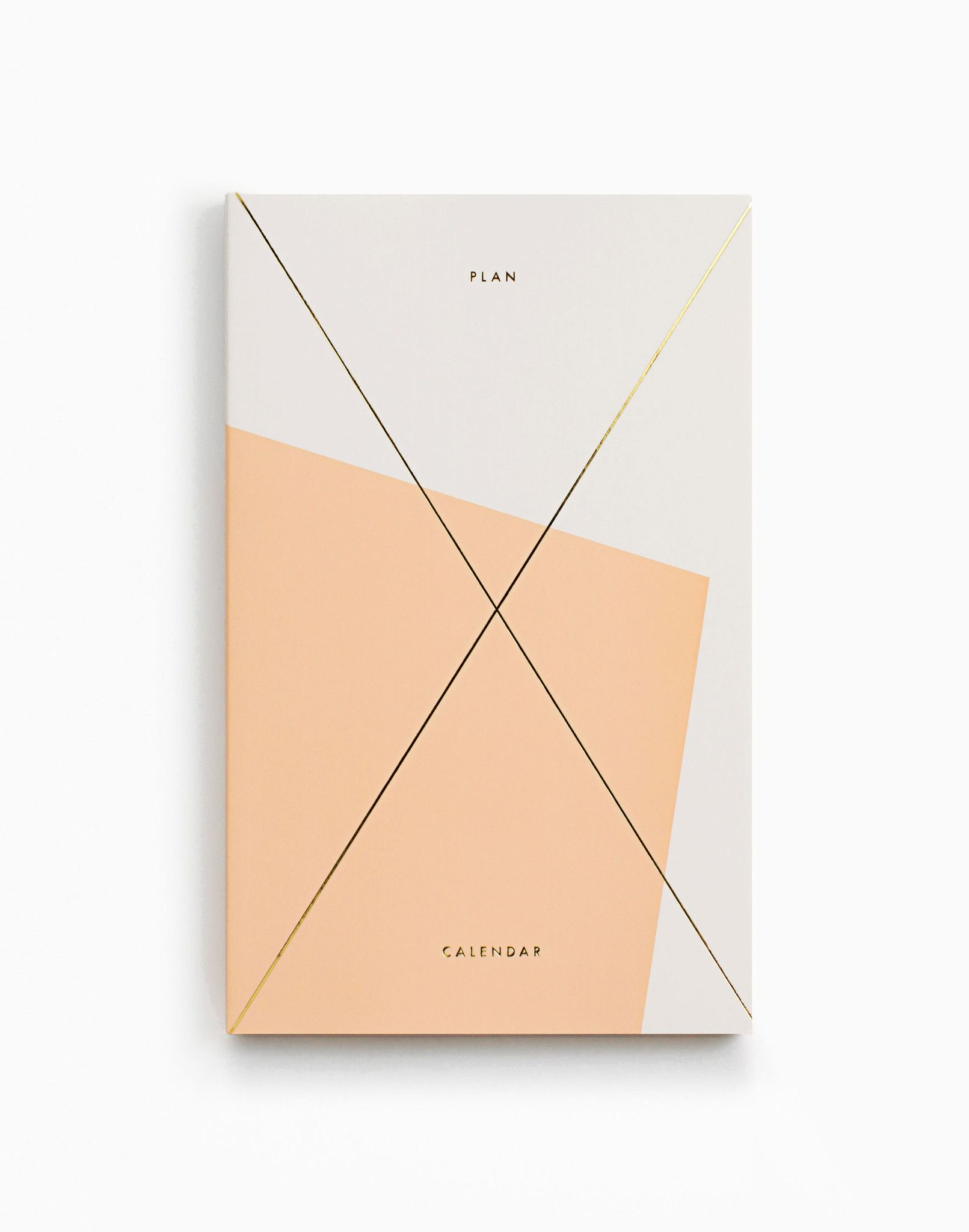 gold foil any year daily planner apricot graphic design