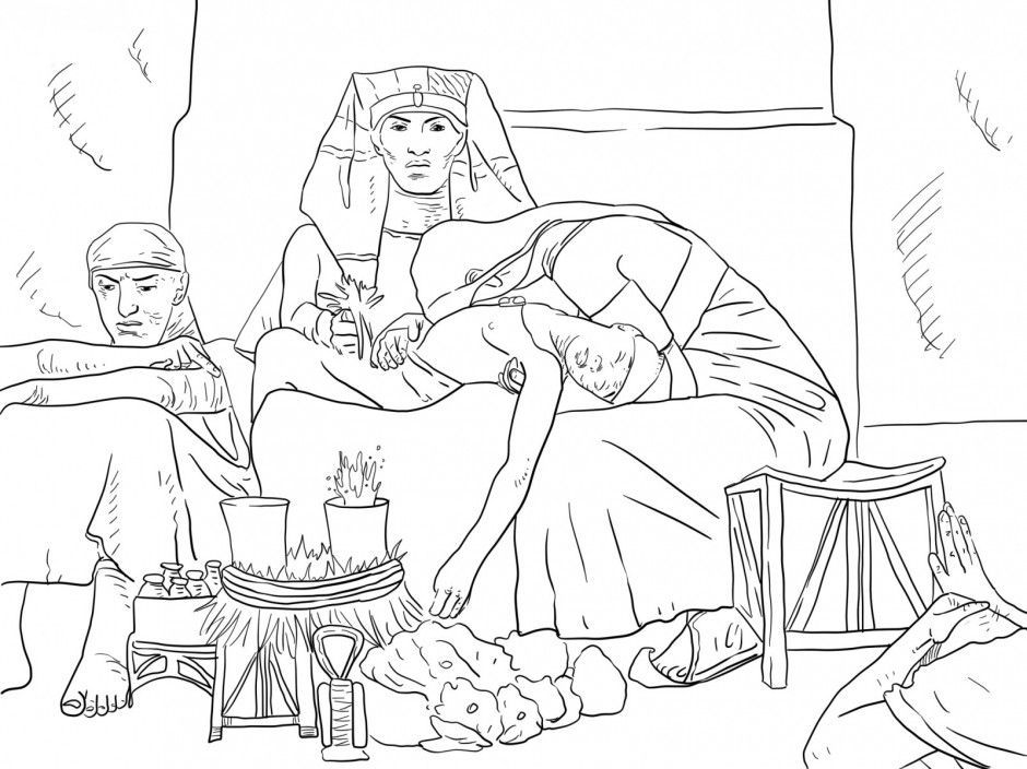 Joseph Interpreting The Pharaoh 39 S Dream Coloring Online
