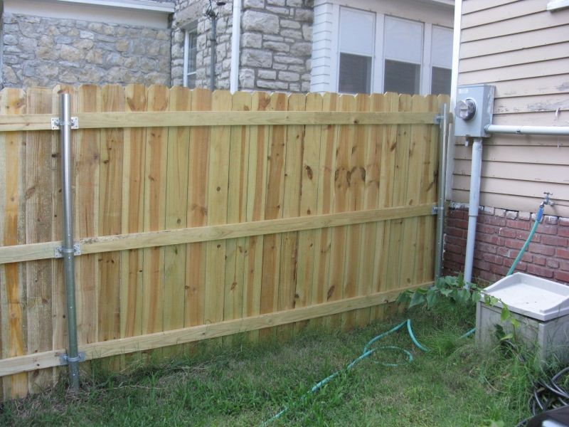 Convert Chain Link To Wood Fence Google Search Curb