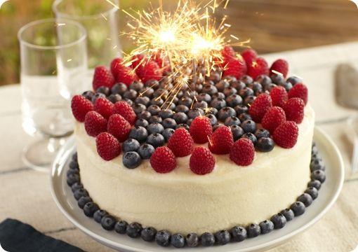 Superstar Blueberry and Raspberrry Lemon Cake Recipe