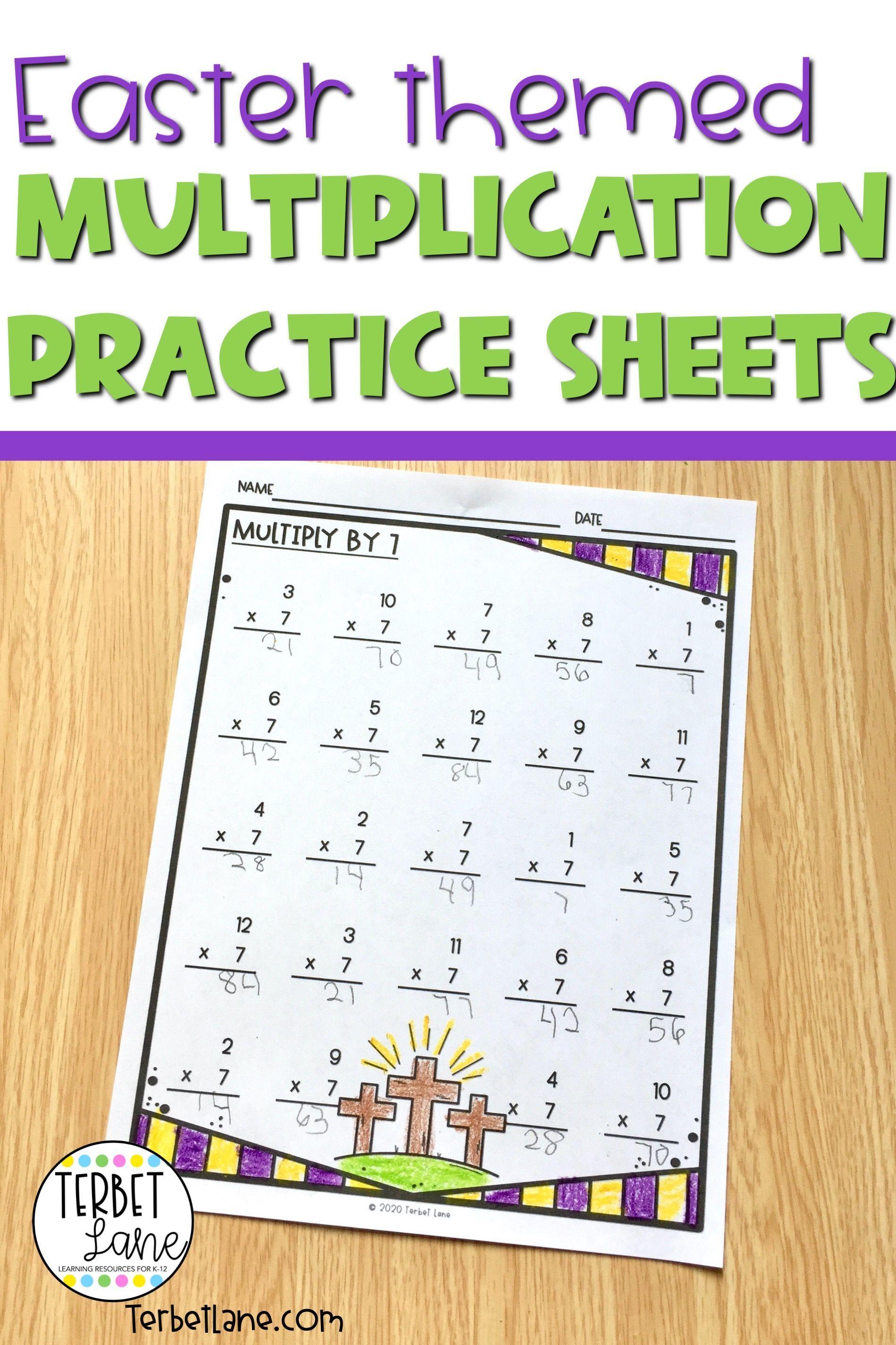 Easter Multiplication Worksheets In