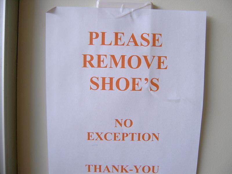 Shoe belonging to who?