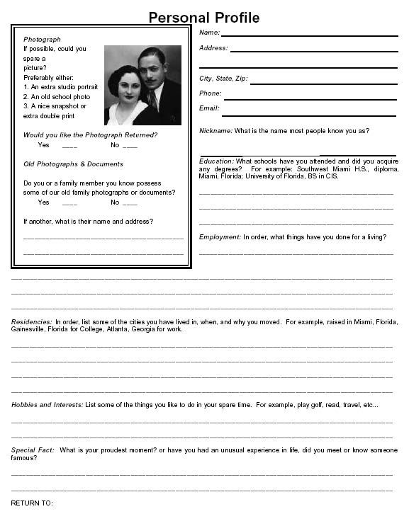 family group sheet form downloads family group sheet personal - profile sheet template