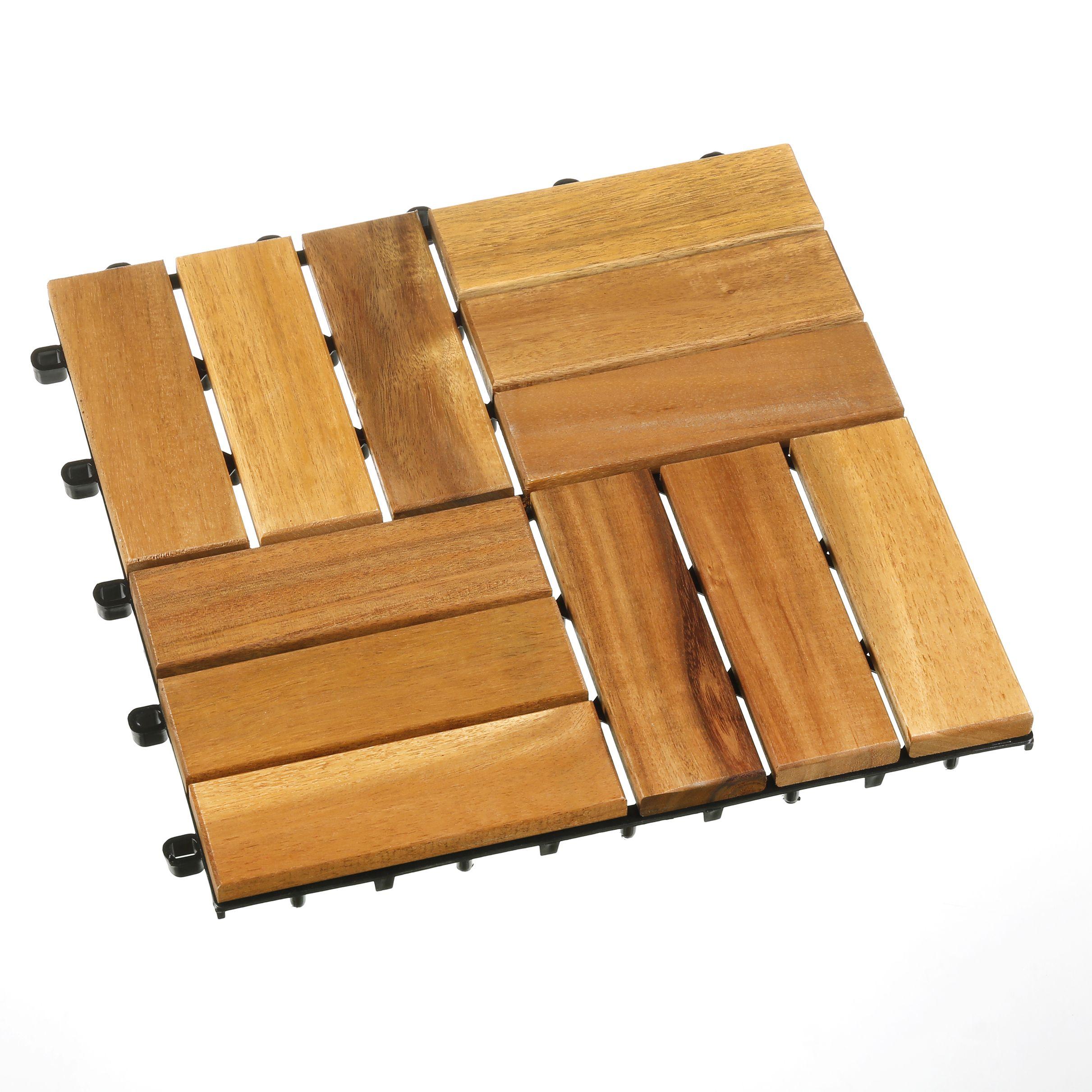 HolzfliesenSet Holzfliesen, Holz, Fliesen