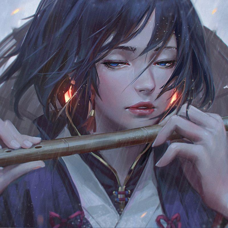 Realistic Anime Warrior Girl