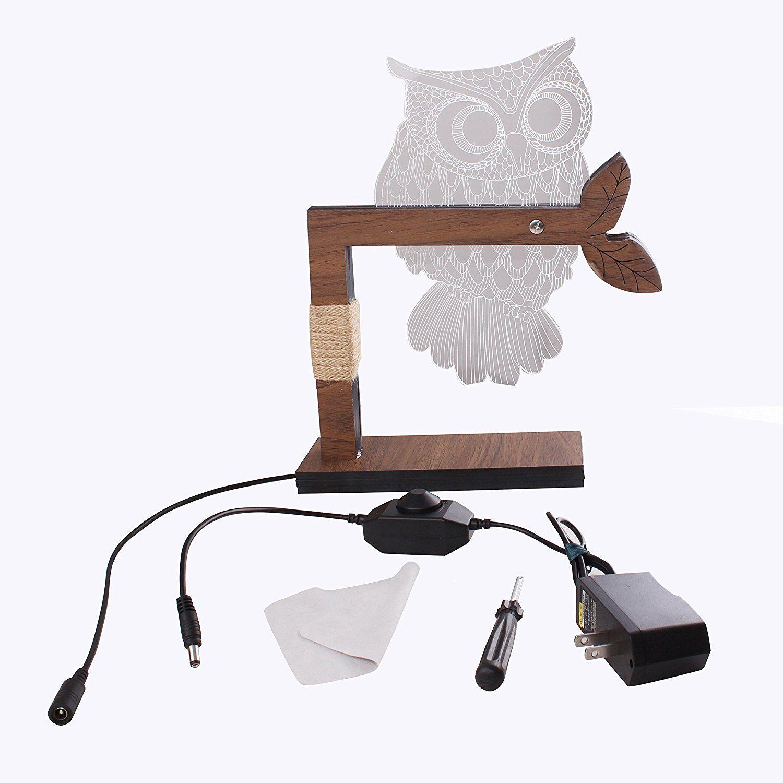Cozywow home 3d owl shape led desk table lamp night light us plug cozywow home 3d owl shape led desk table lamp night light us plug warm white geotapseo Images