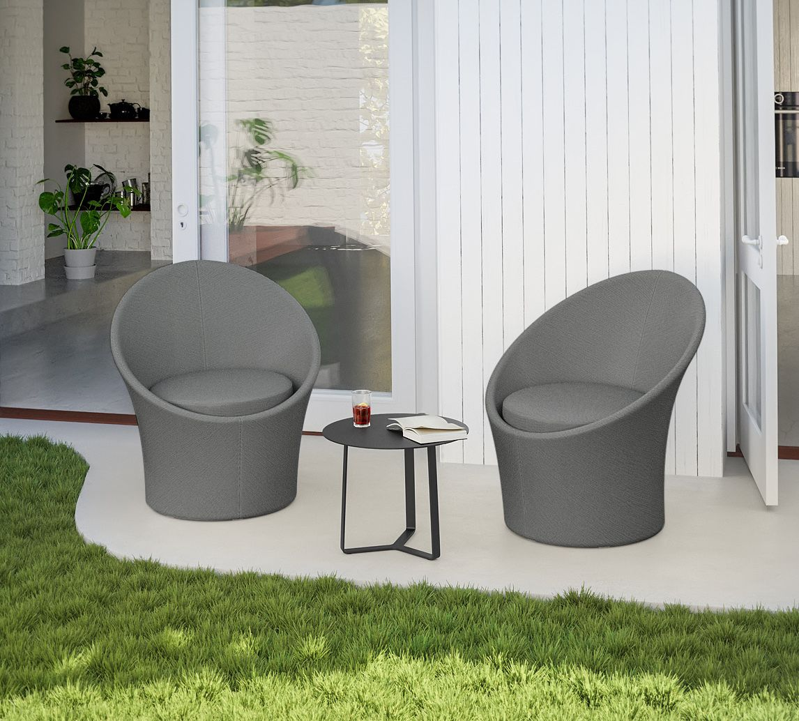 The lanikai outdoor patio set is the trend its a contemporary look that can smoothly