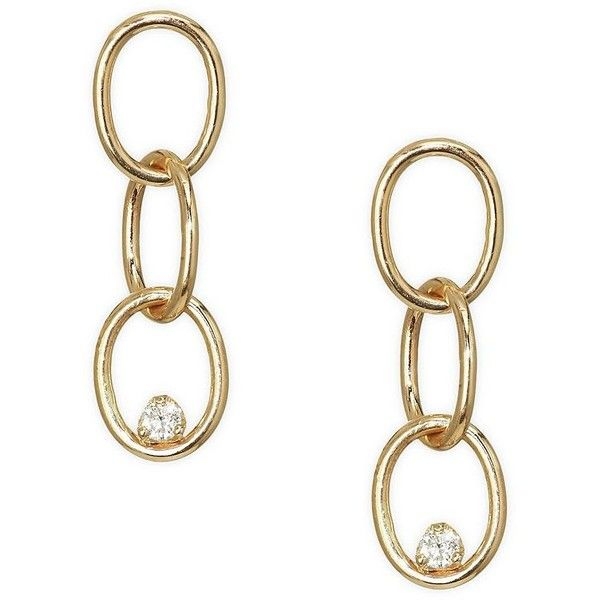 Zoë Chicco 14k Gold Linked Prong Diamond Earring rueAIqu1mb