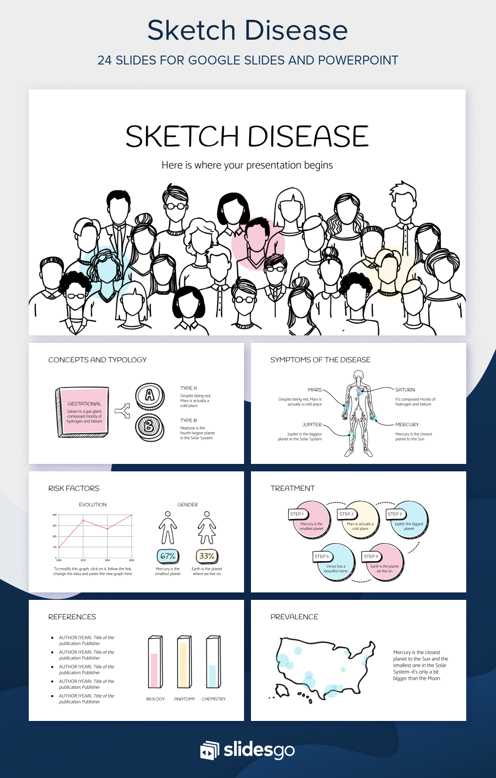 Give An Informative Presentation About Multiple Sclerosis With This Sketch Based Medical Presentation Template Fo In 2020 Google Slides Themes Presentation Powerpoint