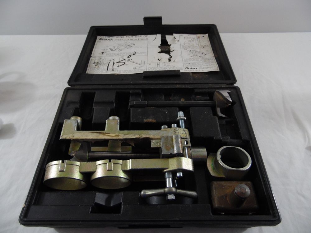Vintage Weslock Professional Door Handle Lock Boring
