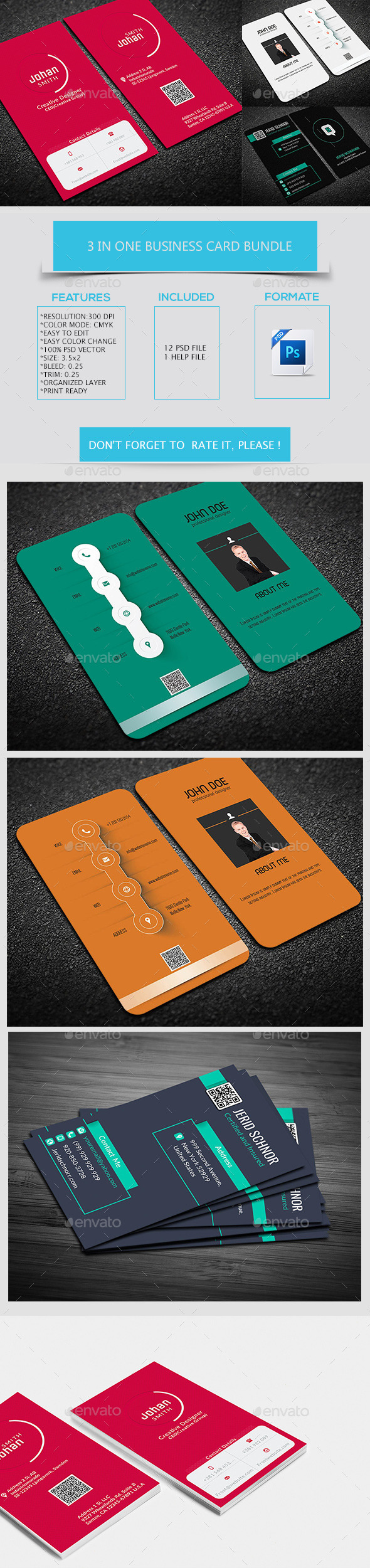 3 in one business card bundle template design download httpgraphicriver