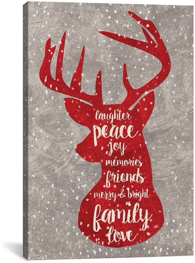 icanvas icanvasart xmas deer general decor holiday art on icanvas wall art id=18869