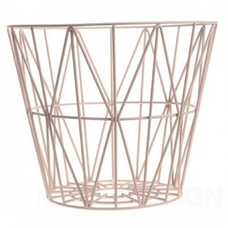 Wire Basket Large Roze Mand - Ferm Living Wire Basket Large Roze Mand - Ferm Living