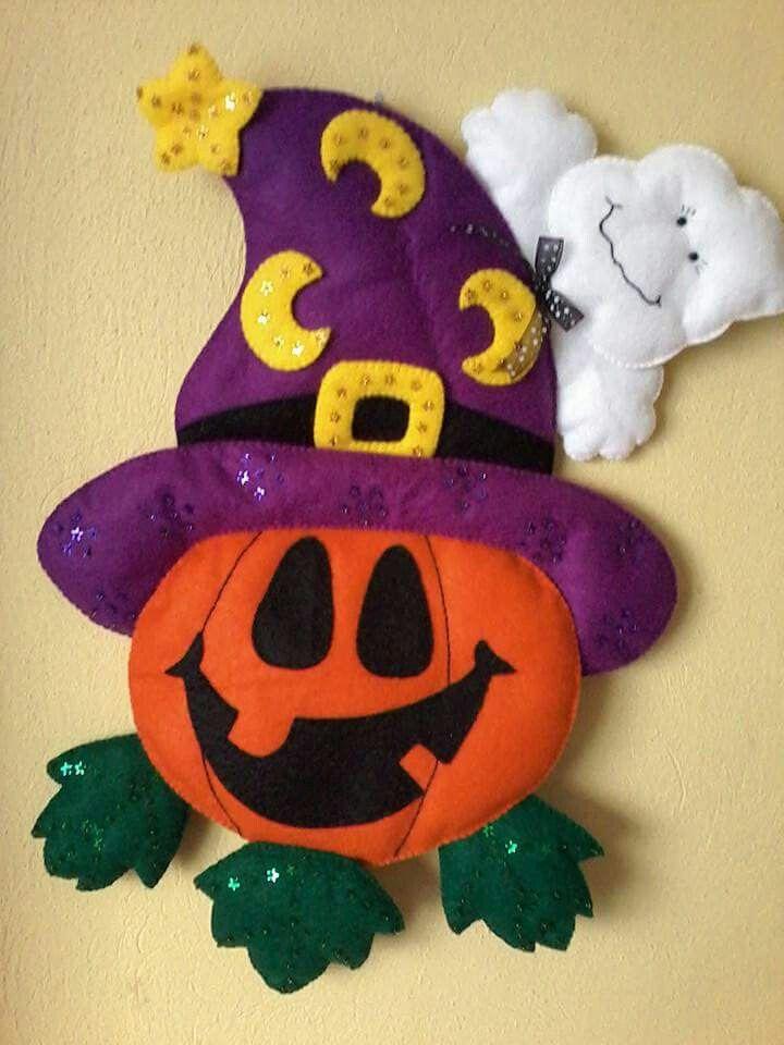 Calabaza Fieltro Halloween Pinterest Felting Craft