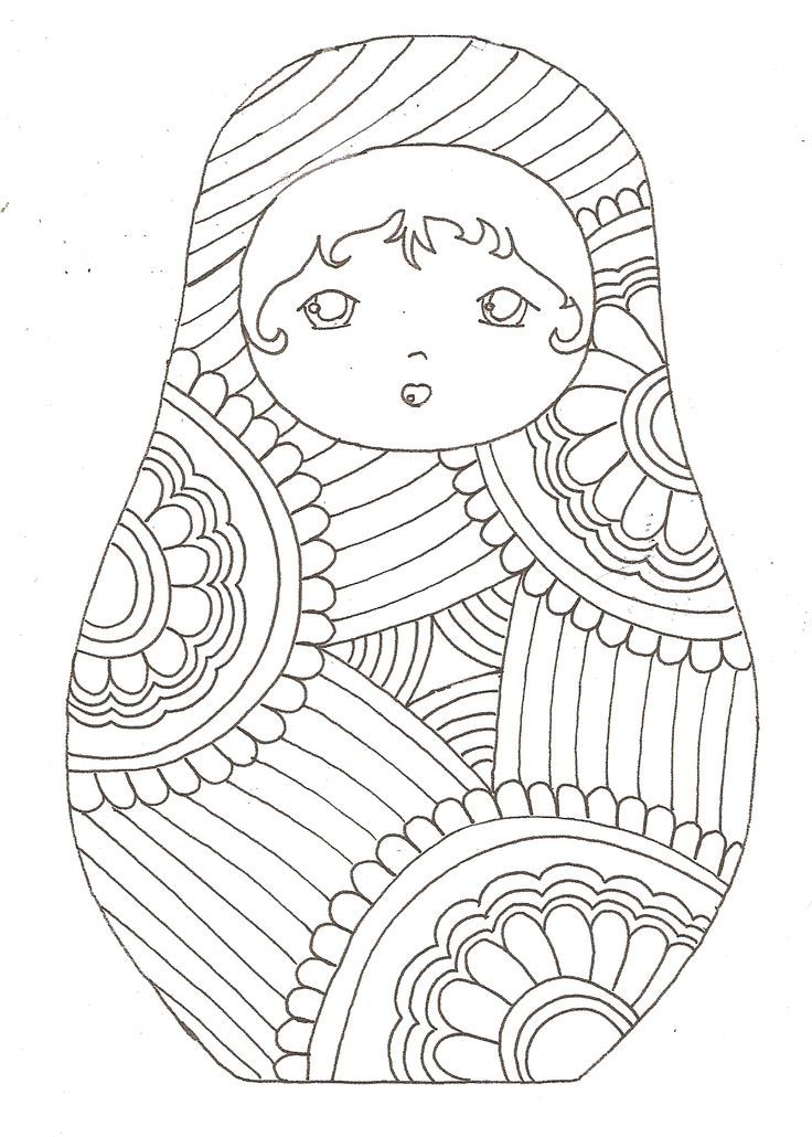 Awesome Coloriage Poupee Russe Inspirant Coloriage Poupee