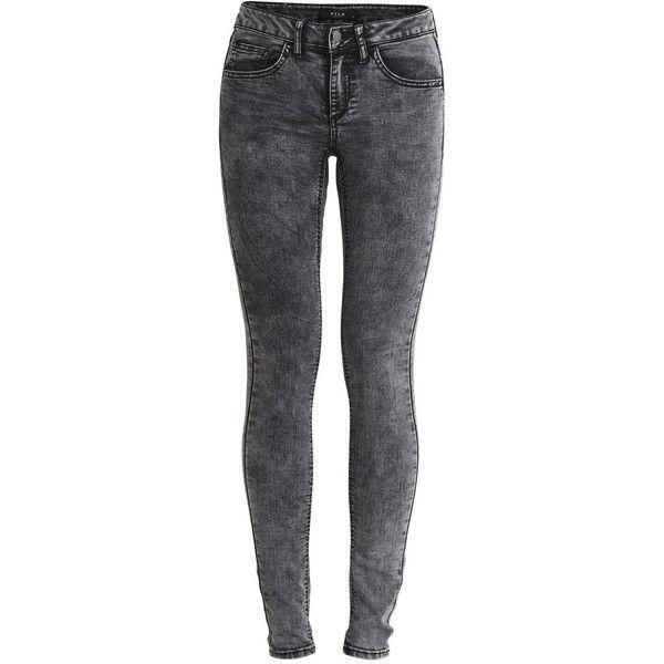 Vicommit Skinny Jeans black denim Vila Ngwh8W