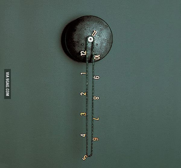 I love this clock design. | Clocks, Mechanical clock and Industrial
