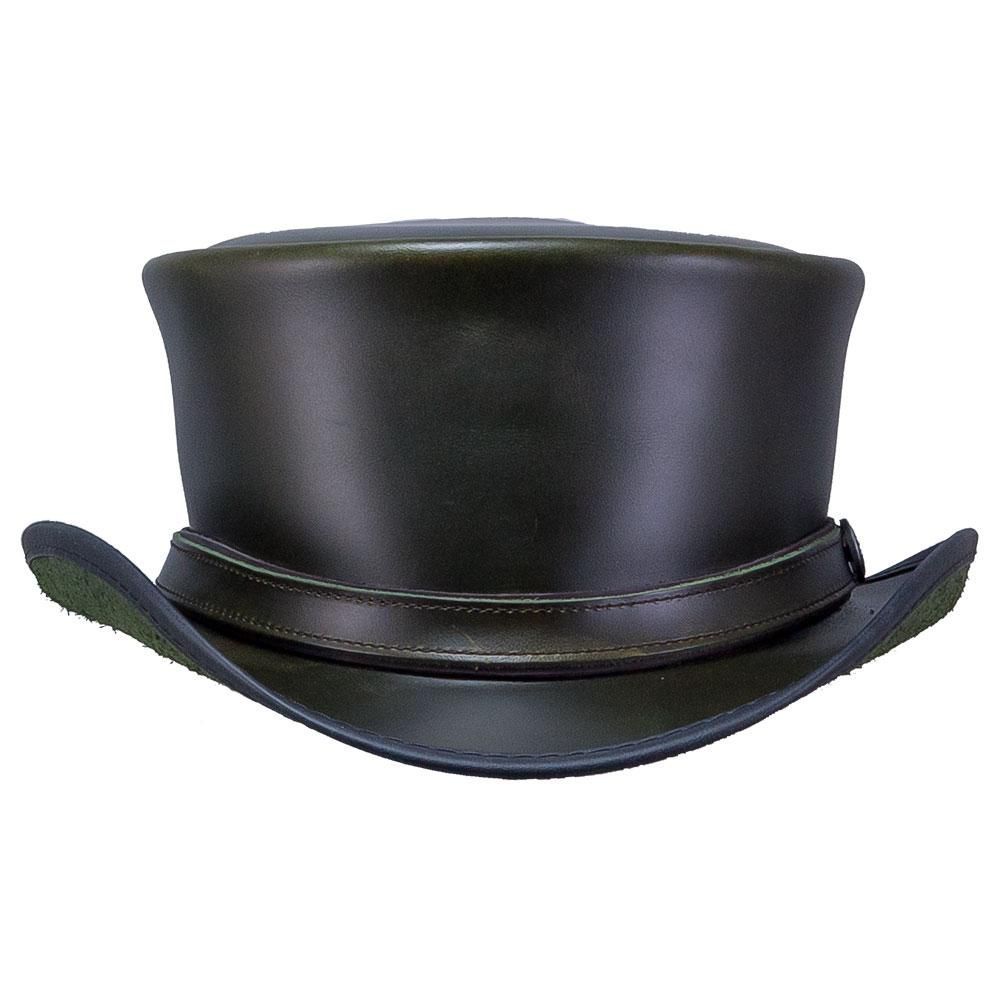 Hampton Leather Top Hat In 2021 Mens Hats Fashion Leather Top Hat Leather Hats