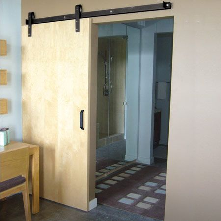 idea for sliding door between areas classic flat track system