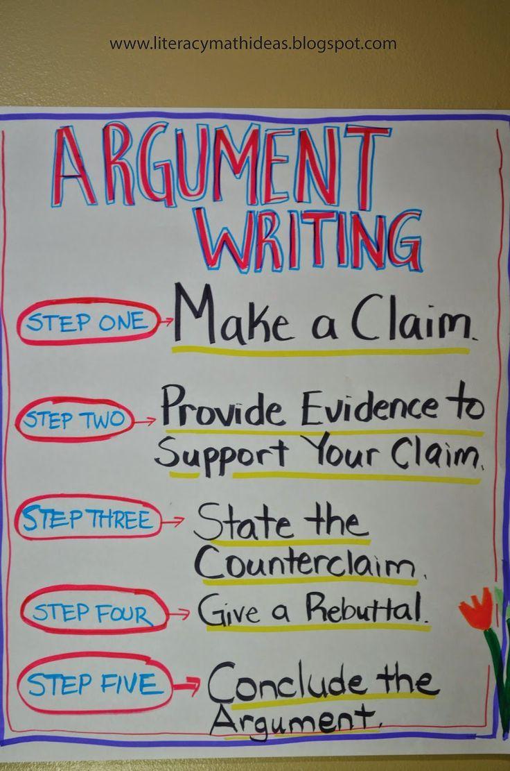 Literacy math ideas argument writing writing ideas pinterest