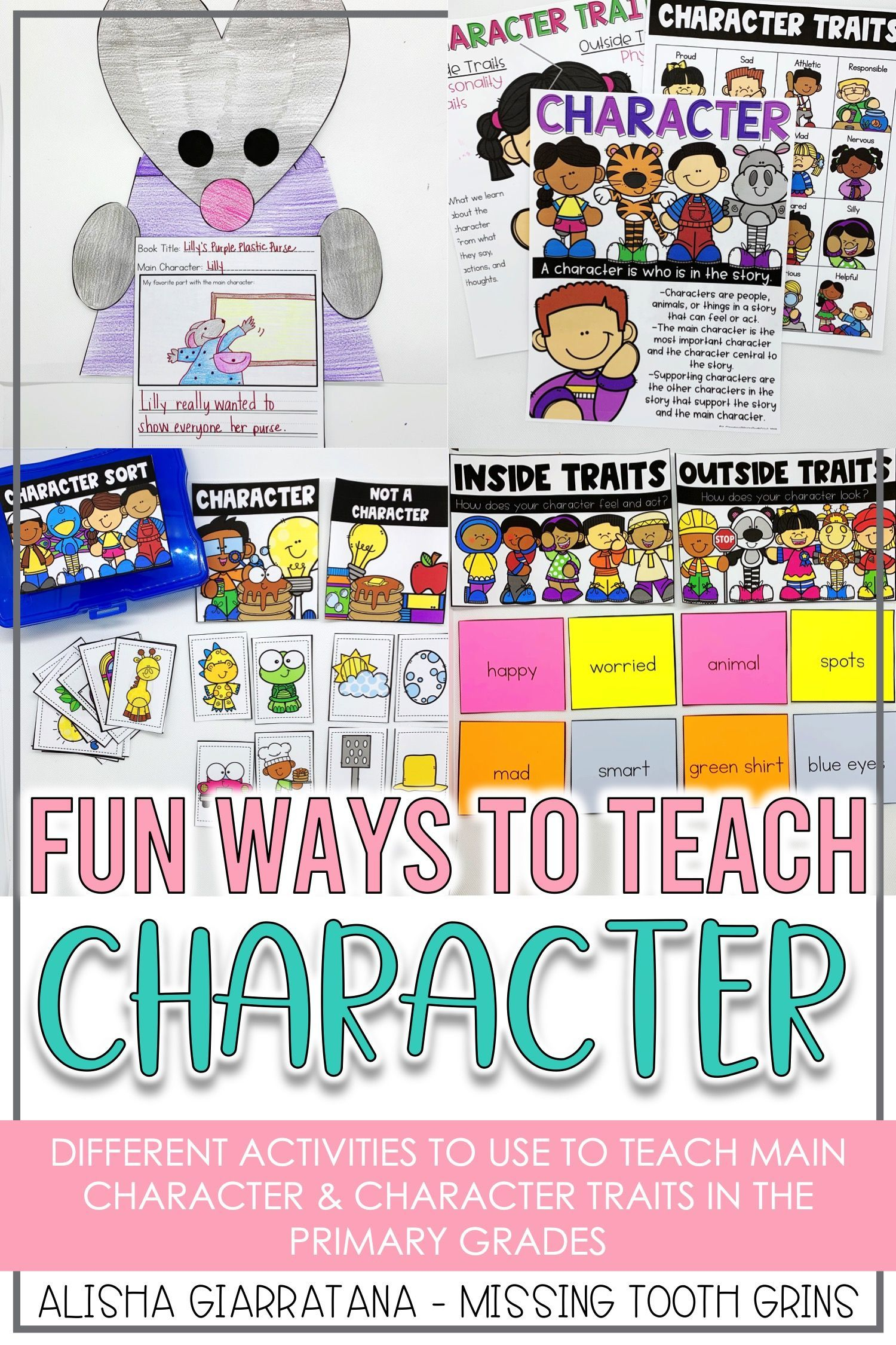 small resolution of Main character and character traits are fun to teach in kindergarten