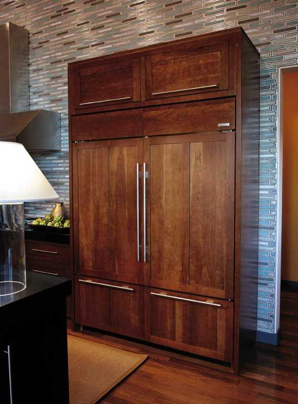 Custom refrigerator panel wellborn cabinet what 39 s your - Custom cabinet companies ...