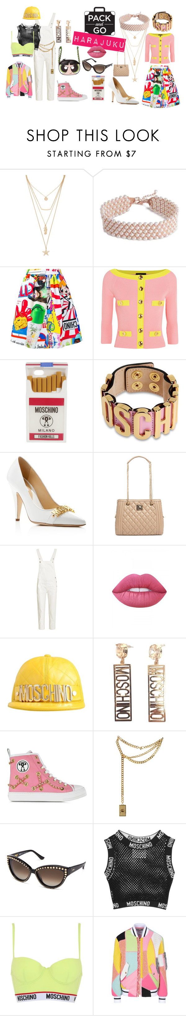 """""""The Lolita and the Tramp"""" by hautegrits ❤ liked on Polyvore featuring Forever 21, Moschino, Boutique Moschino, Love Moschino, M.i.h Jeans, Lime Crime, JeremyScott, harajuku, tokyo and Packandgo"""