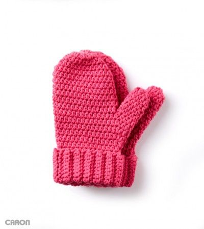 Hands Full Mittens - free Caron crochet pattern at Yarnspirations.To ...