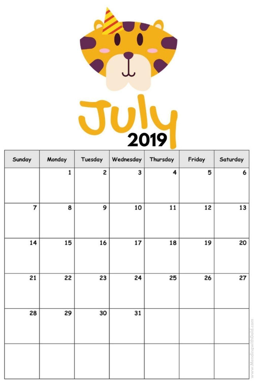 2019 Free Printable Calendar For Kids Cause Children Love Cute