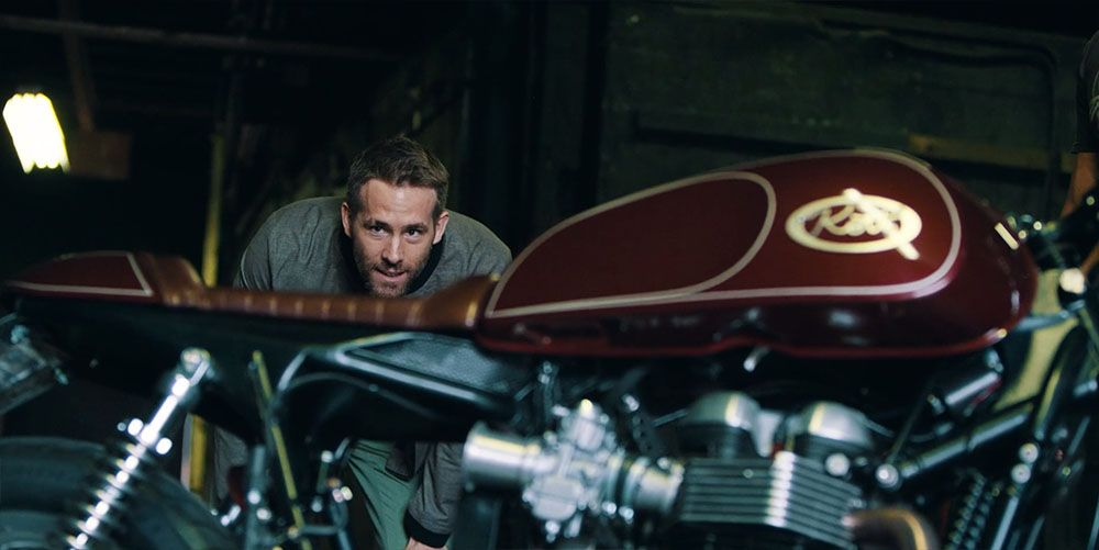 Ryan Reynolds talks about his passion for riding as we watch custom motorcycle builder Dustin Kott convert Ryan's stock Triumph Thruxton into a cafe racer. Director/DP/Editor - Bryan Rowland