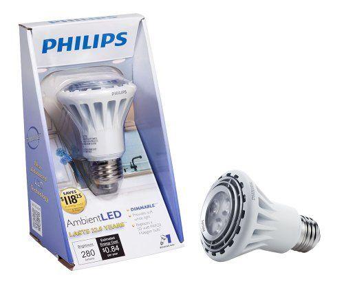 Philips 418426 Dimmable Ambientled 7 Watt Par20 Indoor Flood Light Bulb Led Track Lighting Flood Lights Led Light Bulb