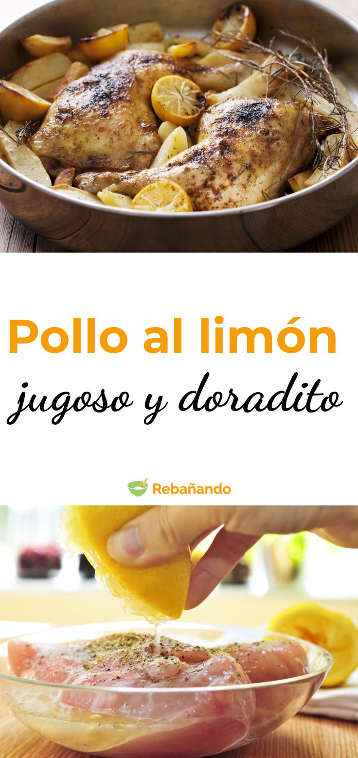 Recetas que siempre funcionan: pollo al limón, jugoso y doradito