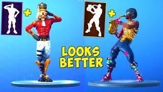 FORTNITE DANCES LOOK BETTER WITH THESE SKINS  !(LOOKS