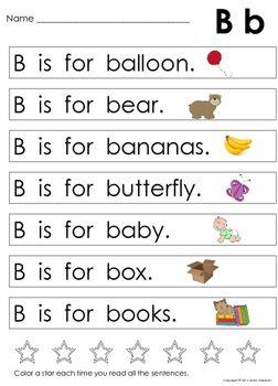 alphabet letter sentences to teach beginning sounds letter recognition esl reading words. Black Bedroom Furniture Sets. Home Design Ideas