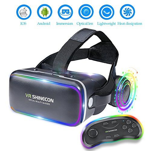 1ab2e2a7a3f 3D VR Headset Virtual Reality Glasses -for 3D Movies Video Games  Comfortable VR Goggles with Stereo Adjustable Headphone Compatible with All  IOS Android ...