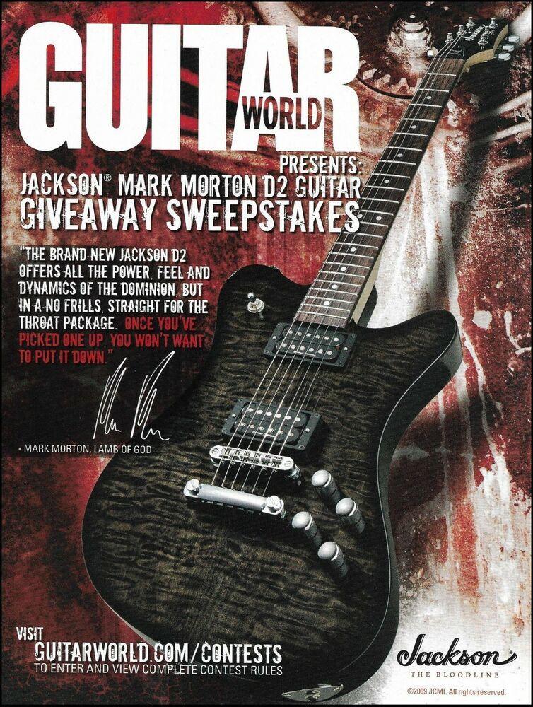 Lamb of God Mark Morton Signature Jackson D2 Guitar Giveaway