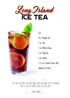 Cocktail - Long Island Ice Food & Kitchen Poster Print | metal posters -… | Displate thumbnail