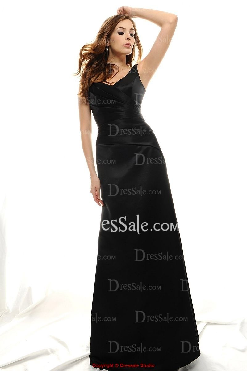 Impressive Ruched A-line Evening Gown with Floral Ornament