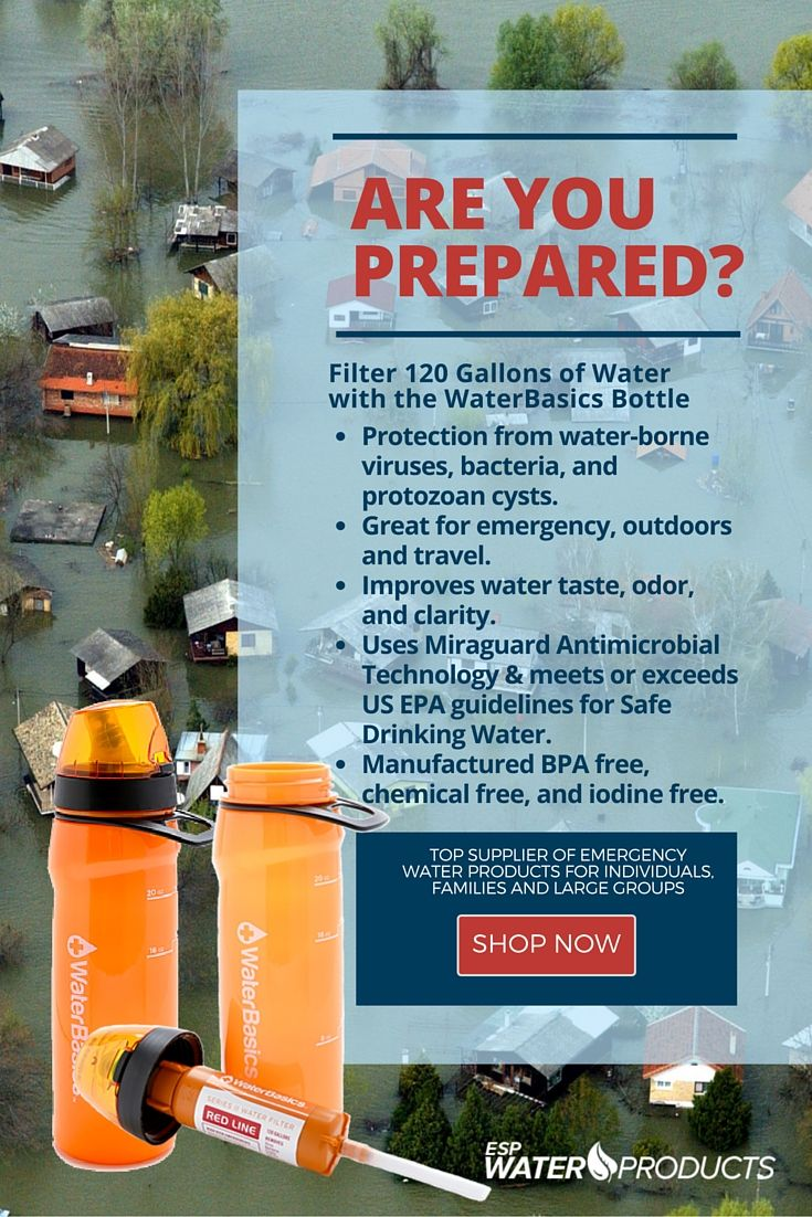 Emergencywater Products Like The Waterbasics Water Bottle Provides Protection From Water Borne Viruses Bacteria And Protozoa Emergency Water Water Emergency