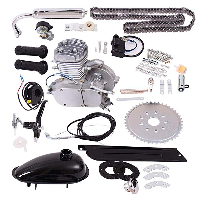 Amazon Com Goplus Bicycle Motor Kit 80cc 2 Stroke Bike Gasoline