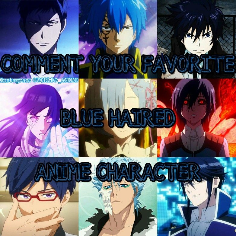 Favorite Blue Haired Anime Character Anime Anime Characters Anime Funny