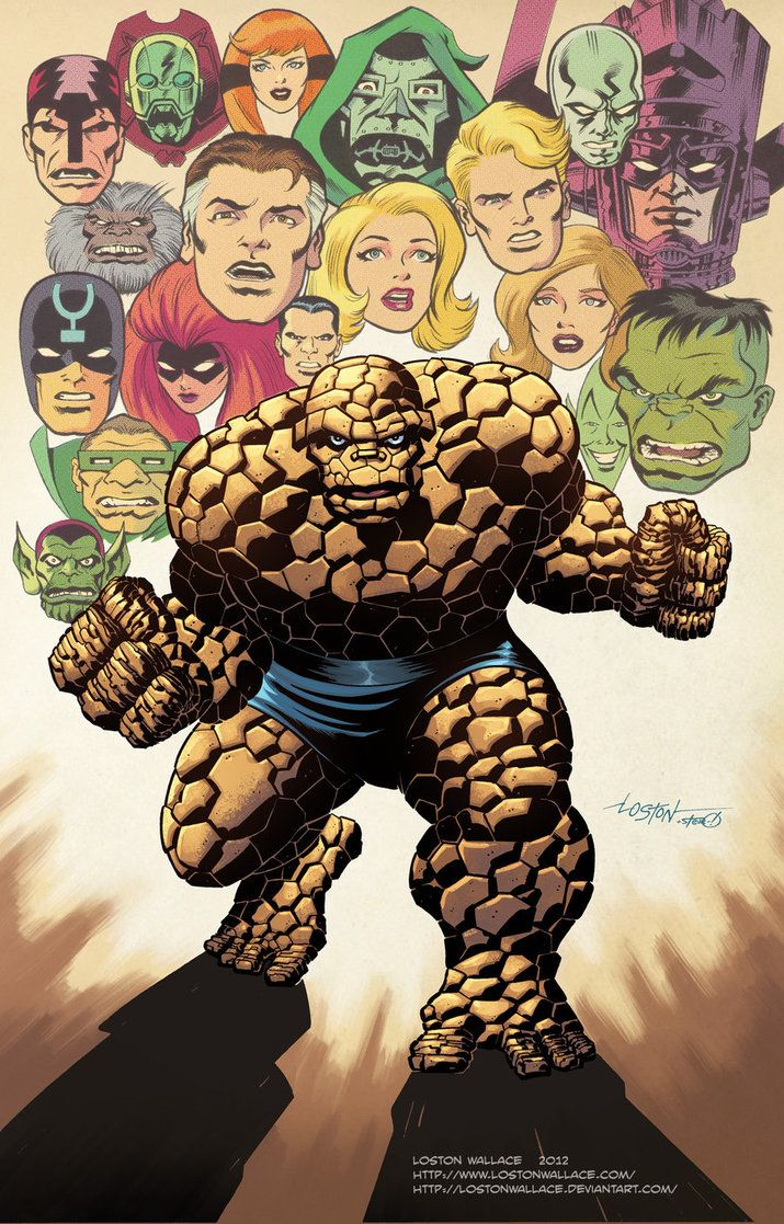 #Thing #Fan #Art. (Thing Collage color) By: LostonWallace. (THE * 5 * STÅR * ÅWARD * OF: * AW YEAH, IT'S MAJOR ÅWESOMENESS!!!™) ÅÅÅ+