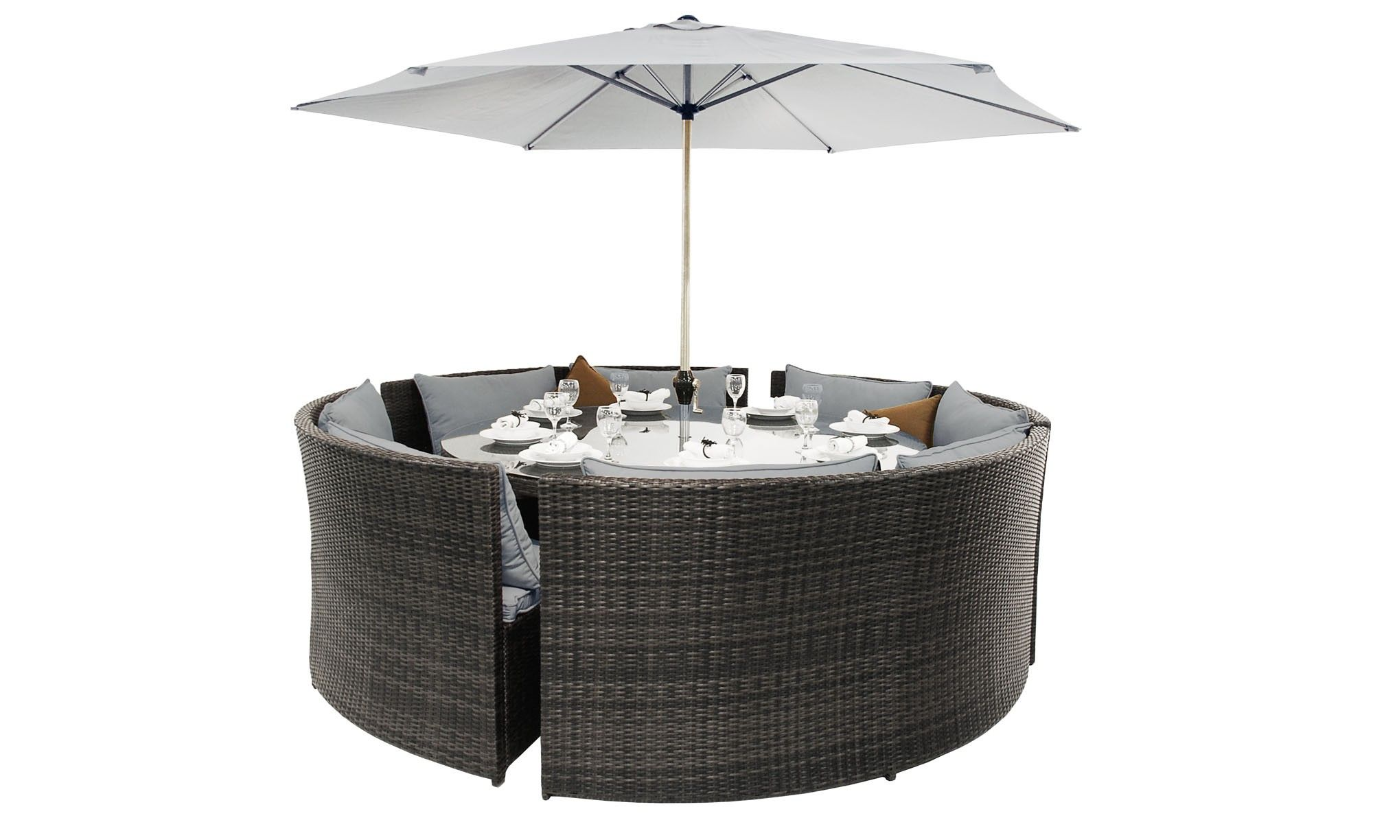 grey rattan dining table. barbuda - round sofa dining table grey rattan garden set sets