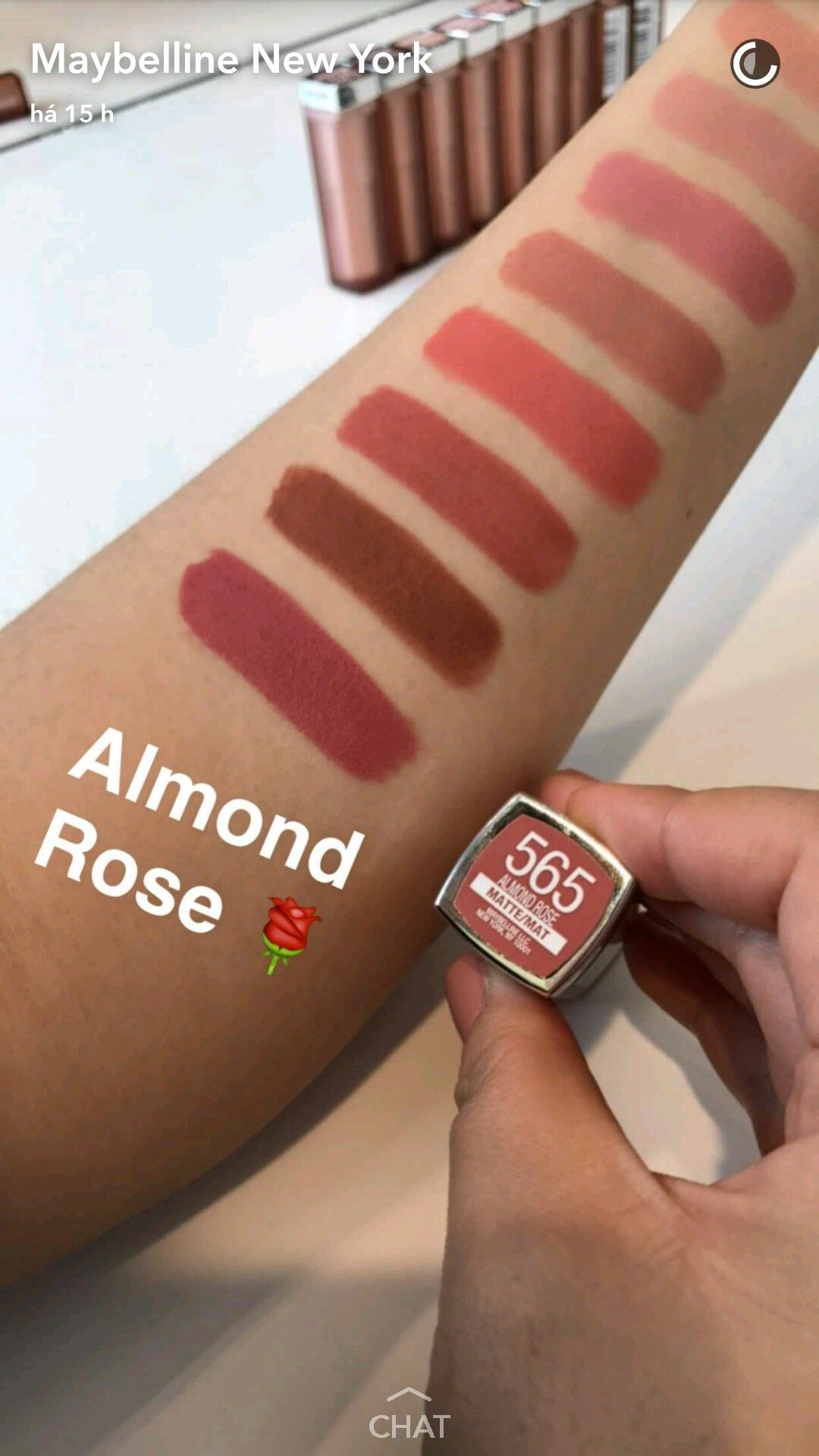 Maybelline nude colors - almond rose | Beauty on my lips