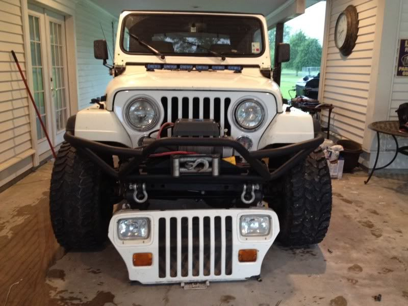 Wrangler Grill Conversion Yj S Square Lights To Round Lights
