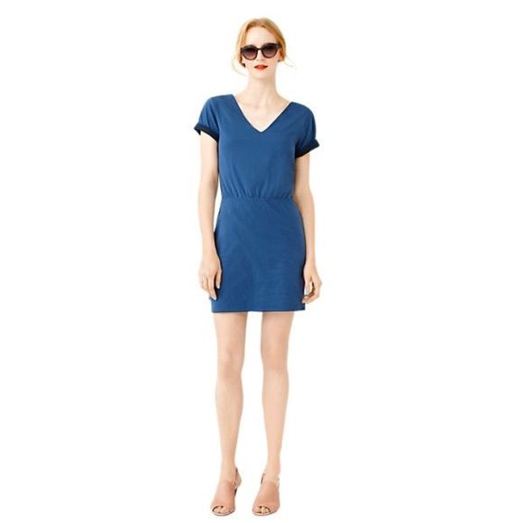 NWT Kate Spade Call Me Dress! NWT reversible Kate Spade Saturday Call Me Dress! Super soft amazingly comfortable dress that's reversible from charcoal blue to navy! Size medium but runs small- fits size 2/4 kate spade Dresses