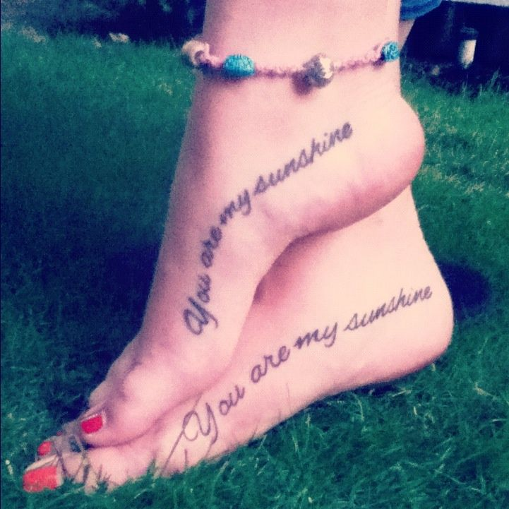Mother Daughter Tattoos On Foot | Mother/daughter tattoos ...