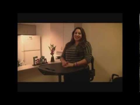 Jen in her EasyStand Evolv Standing Frame - YouTube