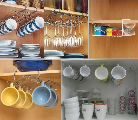 Como organizar arm rio da cozinha como organizar copos - Como organizar armarios ...