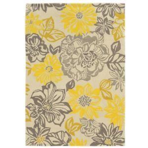 Yellow Gray Kitchen Rug